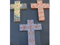 Cross. Christian. Painted
